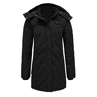Brave Soul Women's Plus Size Quilted Hooded Parka Jacket