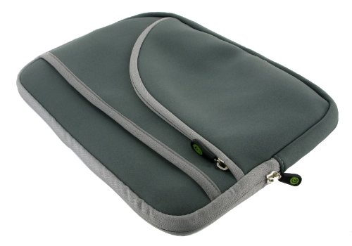 Grey TriPocket Neoprene Sleeve Case for Apple iPad 3G 16GB (iPad NOT Included)