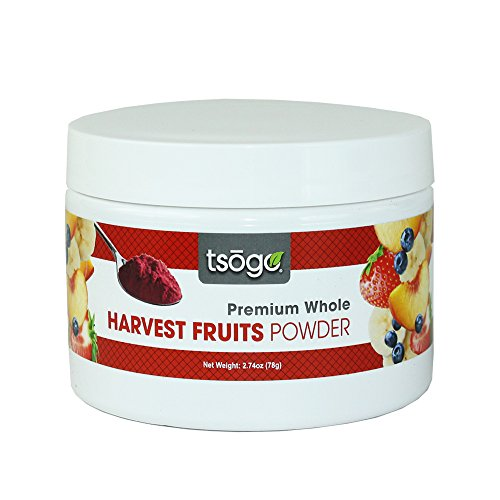 Tsogo Harvest Fruits Powder Blend | Premium Whole Fruit Powder, 78g 48 Servings of Premium Quality 100% Freeze-Dried Bananas, Strawberries, peaches & Blueberries - No Added Flavors, Fillers or Sugars (Baking Filler compare prices)