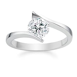 0.74 Carat F/VS2 Round Brilliant Certified Diamond Solitaire Engagement Ring in Platinum