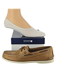 Sperry Men's Authentic Original Shoe with FREE Sperry No Show Socks Bundle