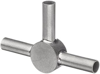 STC-16/3 Stainless Steel Hypodermic Tube Fitting, Tee, 16 Gauge (Pack of 5)