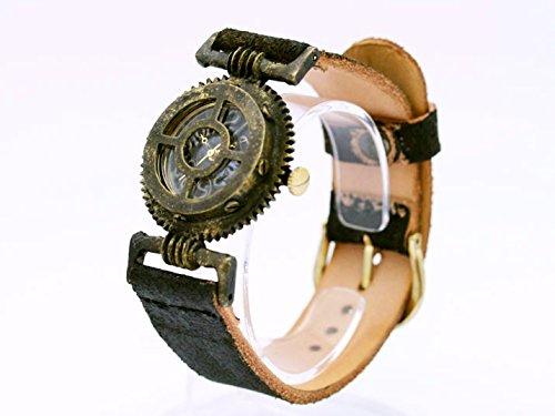 スチームパンク風デザインの腕時計「Geatronics III」 時計作家KS(篠原康治) 手作り時計のJHA(グリーン)