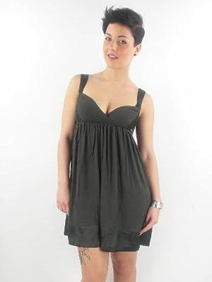 Miss Sixty Kleid Dress Trägerkleid Babydoll Talia schwarz Satin NEU from Miss Sixty