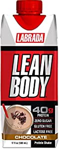Labrada Nutrition Lean Body, Ready to Drink Chocolate Ice Cream, 17-Ounce, Pack of 12