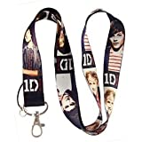 ONE Direction Rock Band Lanyard Keychain Holder
