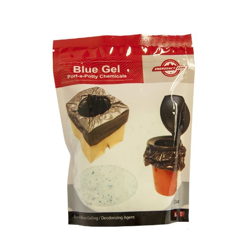 Blue Gel Port-a-Potty Chemicals, Emergency Zone Brand, Liquid Waste Gelling and Deodorizing Powder, Honey Bucket Emergency Toilet Chemicals