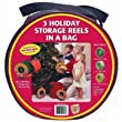 Dyno Seasonal Solutions 92435-112 3 Holiday Storage Reels in a Bag