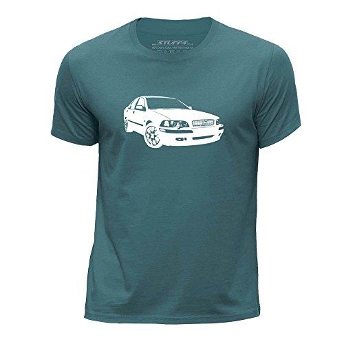 stuff4-chicos-edad-de-7-8-122-128cm-oceano-verde-cuello-redondo-de-la-camiseta-plantilla-coche-arte-