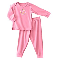 HALO ComfortLuxe 2 Piece Set Flannel, Pink Peace, 12 Months