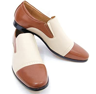 Majestic Men's Spectators . Fashionable Brown and Cream Spectators . Loafers, size 7.5