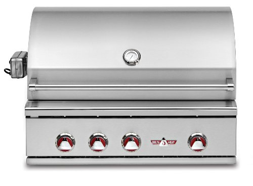 """Delta Heat 32"""" Built-In Natural Gas Grill With Infrared Rotisserie And Infrared Sear Zone"""