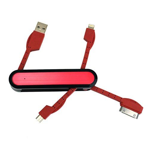 スペックコンピュータ アーミーナイフ型lightningケーブル lightningケーブル iPhone5s iPhone4 Android microUSB 30pin (ブラック)