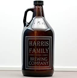 Personalized Engraved Family Name Brewing Company Growler | Beer Lover Gift
