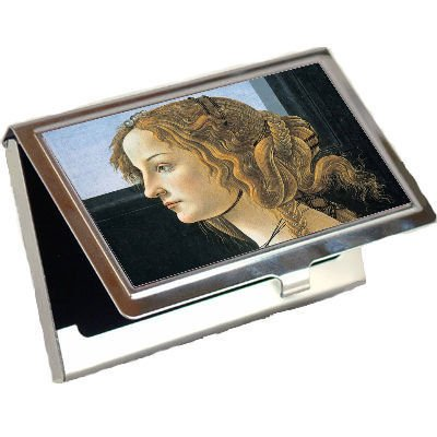 Portrait Of A Young Woman Sandro Botticelli Business Card Holder