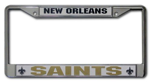 NFL New Orleans Saints Chrome Licensed Plate Frame at Amazon.com