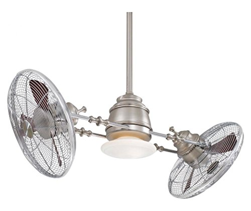 Brushed Nickel/Chrome 42In. 6 Blade Indoor Ceiling Fan With Blades And Light Kit Included (Gyro Ceiling Fan compare prices)