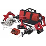 Factory-Reconditioned Milwaukee 0925-84 18-Volt Ni-Cad Cordless 4-Tool Combo Kit