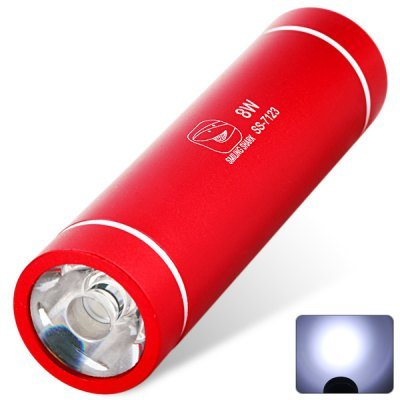 Comple Smiling Shark Ss-7123 8W Led Flashlight Torch For Camping (3 X Aaa Battery 120-Lumens Random Color)
