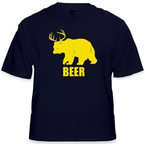 Bear + Deer = Beer T-Shirt (Navy Blue) #38/#B204