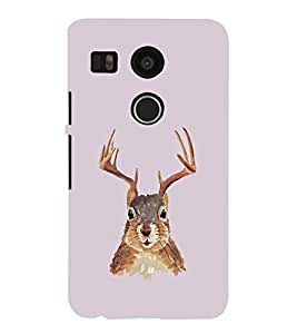 EPICCASE Squireel with horns Mobile Back Case Cover For LG Nexus 5x (Designer Case)