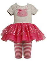 Pink Sequin Kitty Cat Face Tutu Dress / Legging Set PI2TW,Bonnie Jean Todders