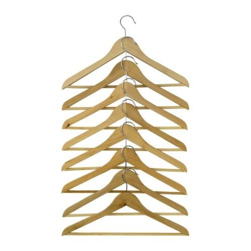 BUMERANG 洋服ハンガー ナチュラル 8本セット IKEA イケア
