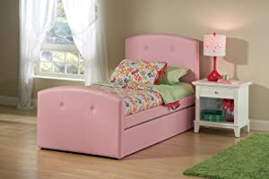 Laci Bed w/ Trundle - Full (Pink) by Hillsdale Furniture