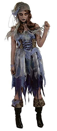 Zombie Pirate Female Halloween Costume - Most Adults