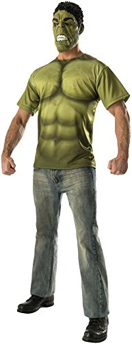 Rubie's Costume Co Men's Avengers 2 Age Of Ultron Adult Hulk T-Shirt and Mask