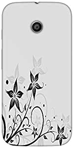 Snoogg seamless floral pattern abstract backgroundHard Back Case Cover Shield For For Motorola E 2nd Generation / Moto E 2nd