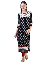 Libas Women's Cotton Printed Straight 3/4th Sleeves Kurta