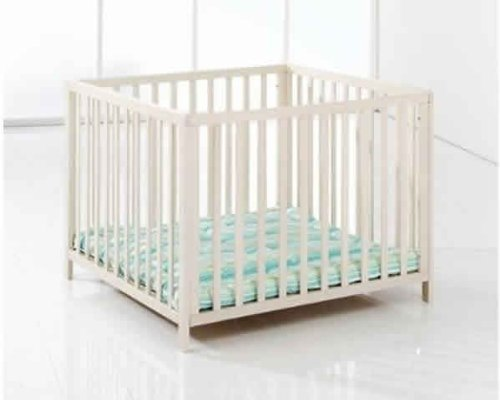 BabyDan Felix Wooden Playpen (White)