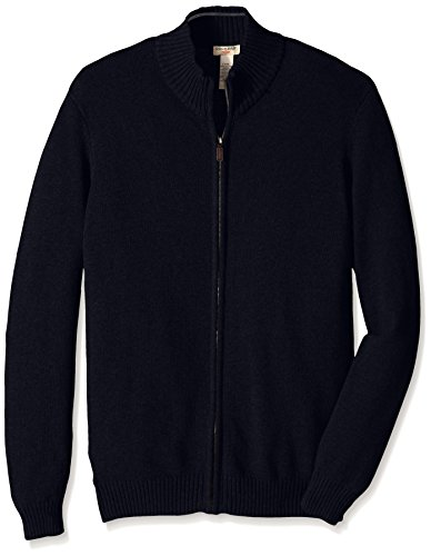 Dockers Men's Big-Tall Cotton Full Zip Solid Sweater, Deep Night, 3X/Big Dockers B014IRHIN2