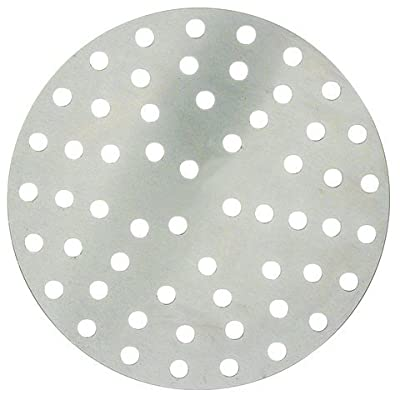 Winco APZP-7P, 7-Inch Aluminum Perforated Pizza Disk with 36 Holes, Pizza Screen