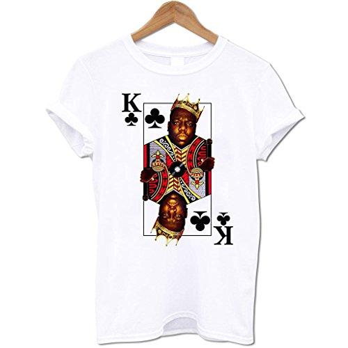 Bang Tidy Clothing Men'S Biggie Smalls King Of Clubs T Shirt White Xxl