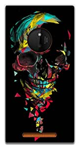The Racoon Grip Broken Skull hard plastic printed back case / cover for Nokia Lumia 830