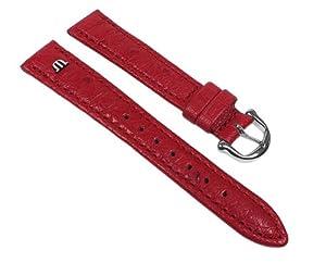 Maurice Lacroix Bracelet cuir d'autruche Band rouge 22631S, Largeur du bracelet:15mm