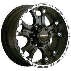 Ballistic 811 Hostel 18×9.0 Flat Black & Machined Wheel 5x127mm Bolt Pattern / +12mm Offset / 83.7mm Hub Bore