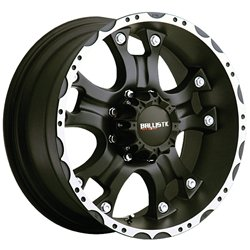Ballistic 811 Hostel 18×9.0 Flat Black & Machined Wheel 5x127mm Bolt Pattern / +12mm Offset / 83.7mm Hub Bore