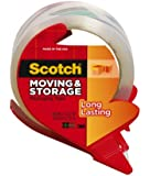 Scotch Long Lasting Moving & Storage Packaging Tape with Refillable Dispenser, 1.88 in x 54.6 yd (3650-RD)