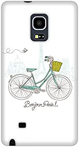 The Racoon Lean White Bonjour Paris hard plastic printed back case / cover for Samsung Galaxy Note Edge