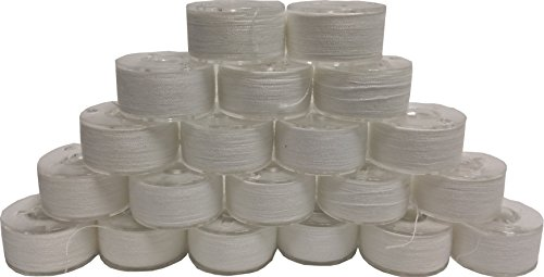 20 Prewound 90 Weight Thread Embroidery Bobbins Size A Class 15 for Janome Machines (Prewound Bobbins For Baby Lock compare prices)