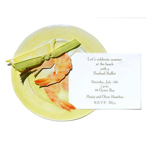 Shrimp Die-Cut Card, Pack Of 10 front-947800