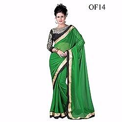 Sai Vira Fashion Chiffon Embroidered Saree (SVF56801230830_Green)