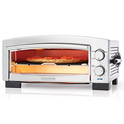 BLACK+DECKER P300S 5-Minute Pizza Oven & Snack Maker, Pizza Oven, Toaster Oven, Stainless Steel (Black And Decker 220v compare prices)