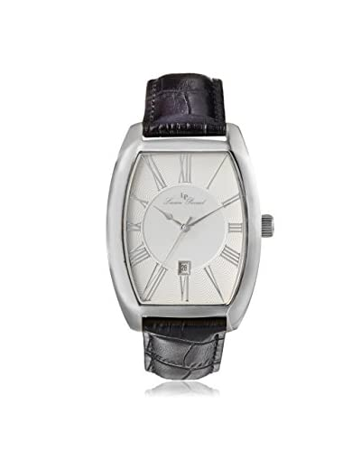 Lucien Piccard Men's 10029-02S Grivola Ortlet Silver Dial Black Leather Watch