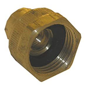 lasco 15 1769 brass garden hose cap with 1 4 inch female