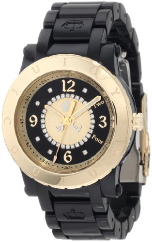 Juicy Couture Women's 1900846 HRH Black Plastic Bracelet Watch