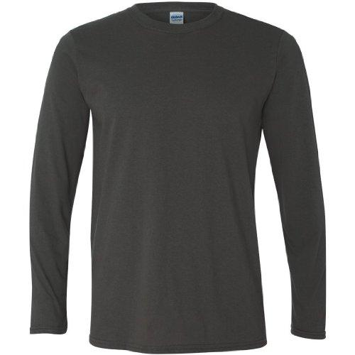 Gildan - Maglietta a Manica Lunga 100% Cotone - Uomo (L) (Carbone)